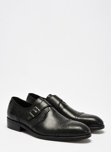 D by Divarese Tokalı Klasik Deri Ayakkabı Siyah